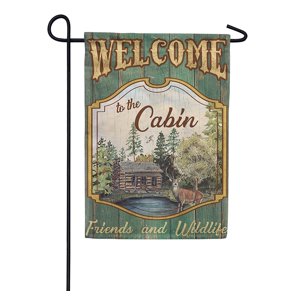 Welcome to the Cabin Double Sided Garden Flag