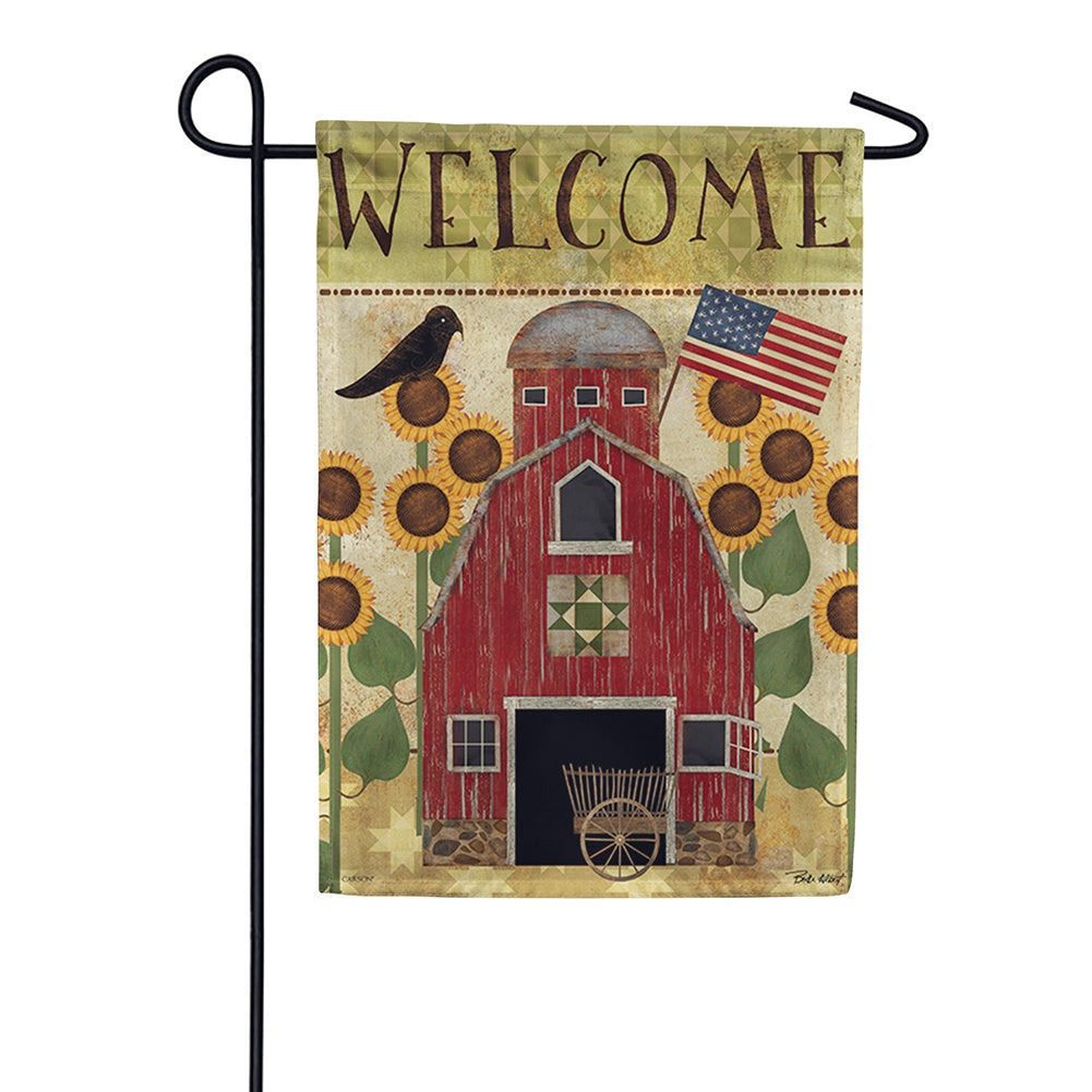 Americana Barn Double Sided Garden Flag