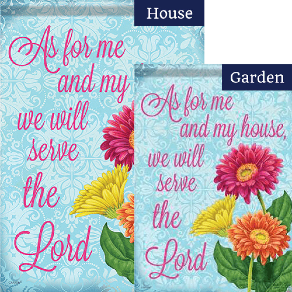 Serve the Lord Double Sided Flags Set (2 Pieces)