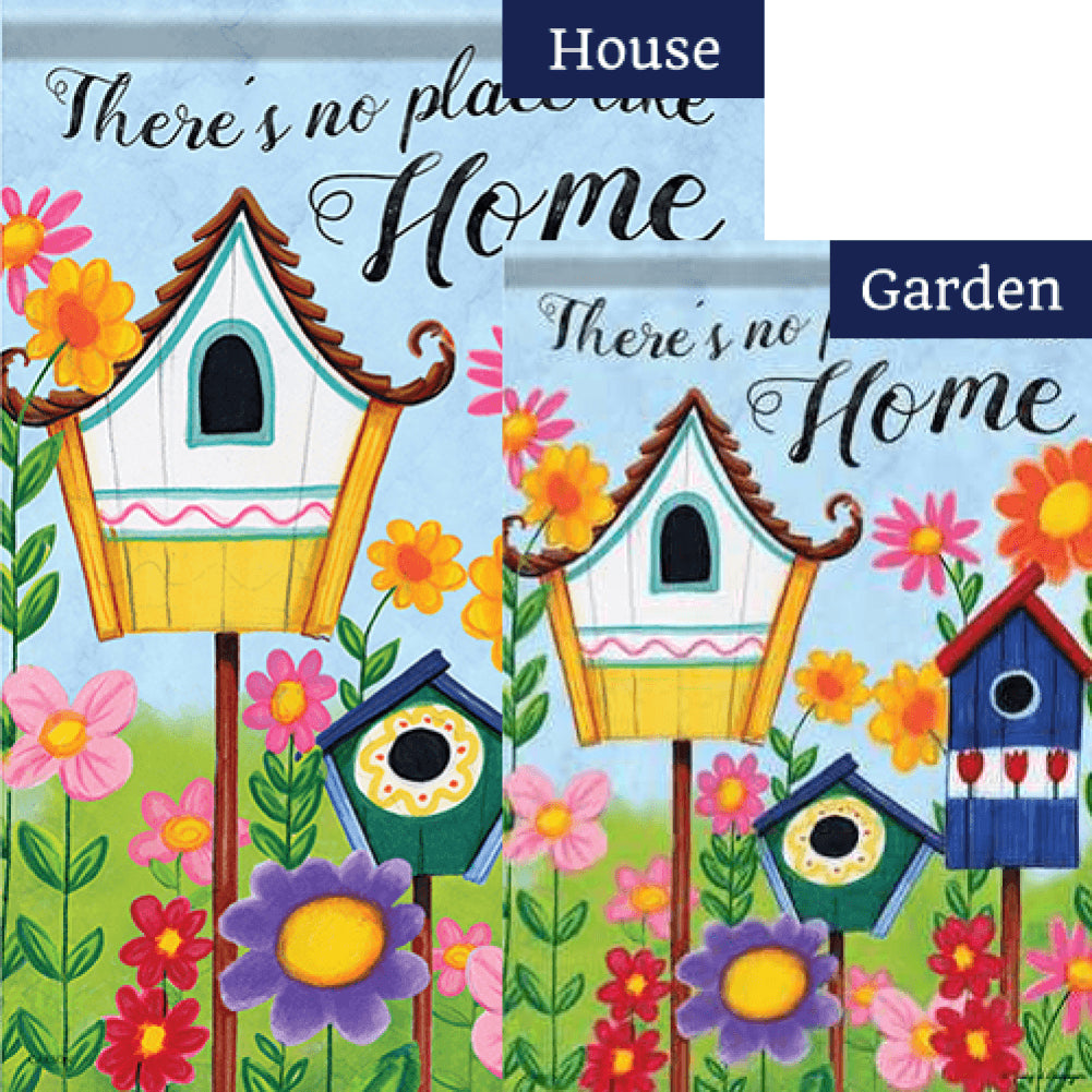 Birdhouses Double Sided Flags Set (2 Pieces)