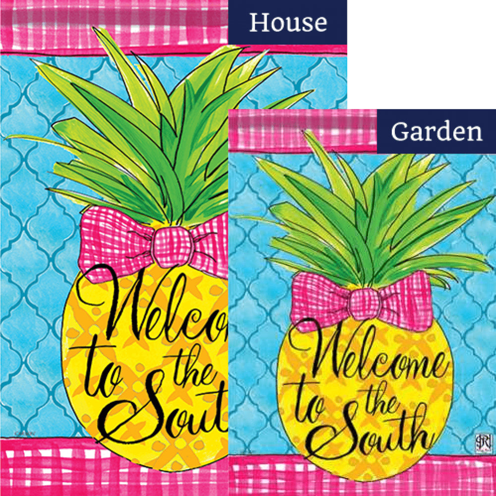 Southern Pineapple Double Sided Flags Set (2 Pieces)