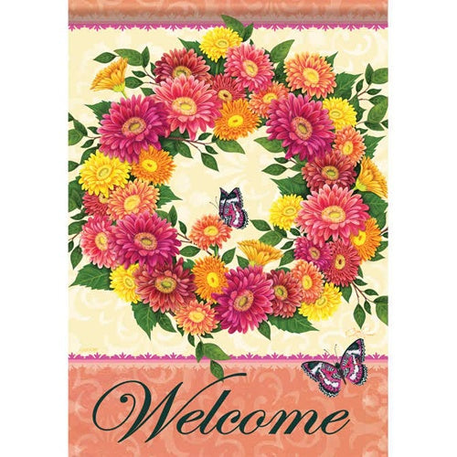Dazzling Daisies Welcome House Flag