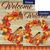 Autumn Song Double Sided Flags Set (2 Pieces)