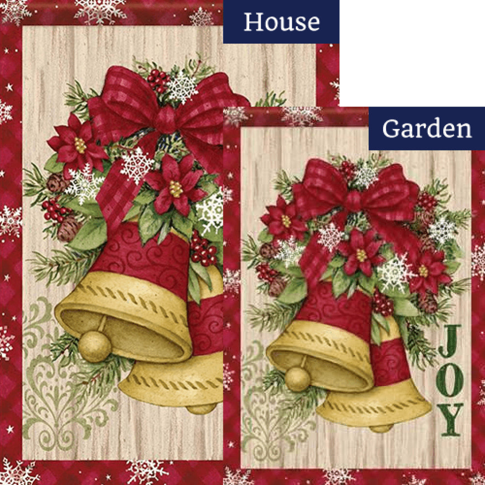 Holiday Bells Double Sided Flags Set (2 Pieces)