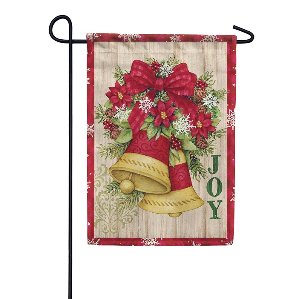 Holiday Bells Double Sided Garden Flag