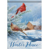 Winter Peace Double Sided Garden Flag
