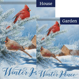 Winter Peace Double Sided Flags Set (2 Pieces)