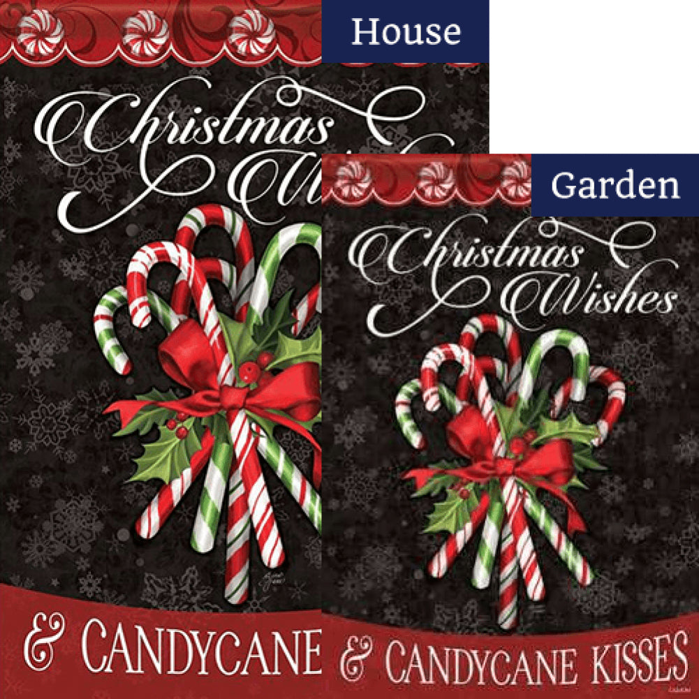 Candy Cane Bouquet Double Sided Flags Set (2 Pieces)
