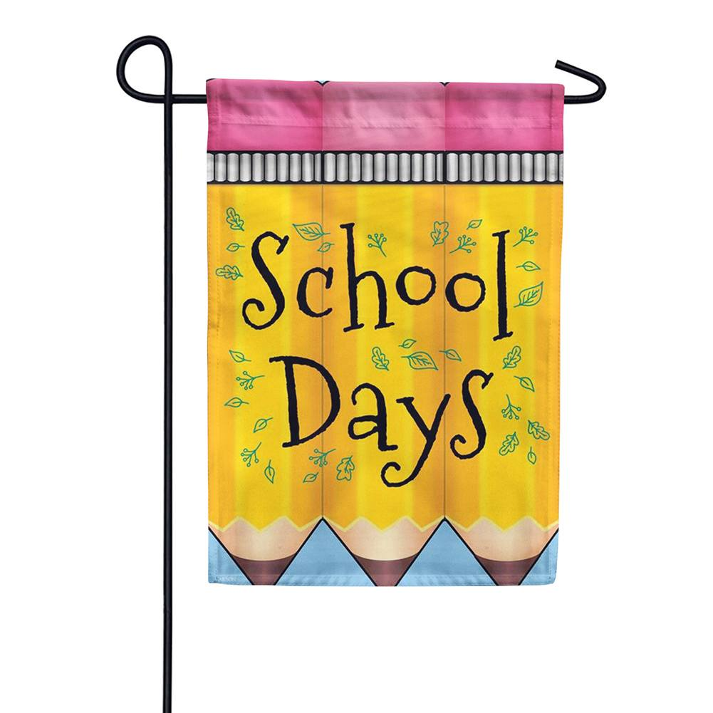 School Days Double Sided Garden Flag