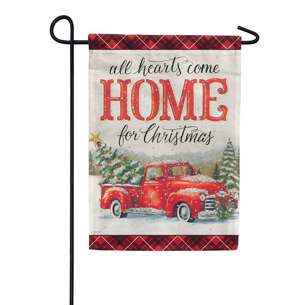 All Hearts Christmas Glitter Trends Double Sided Garden Flag