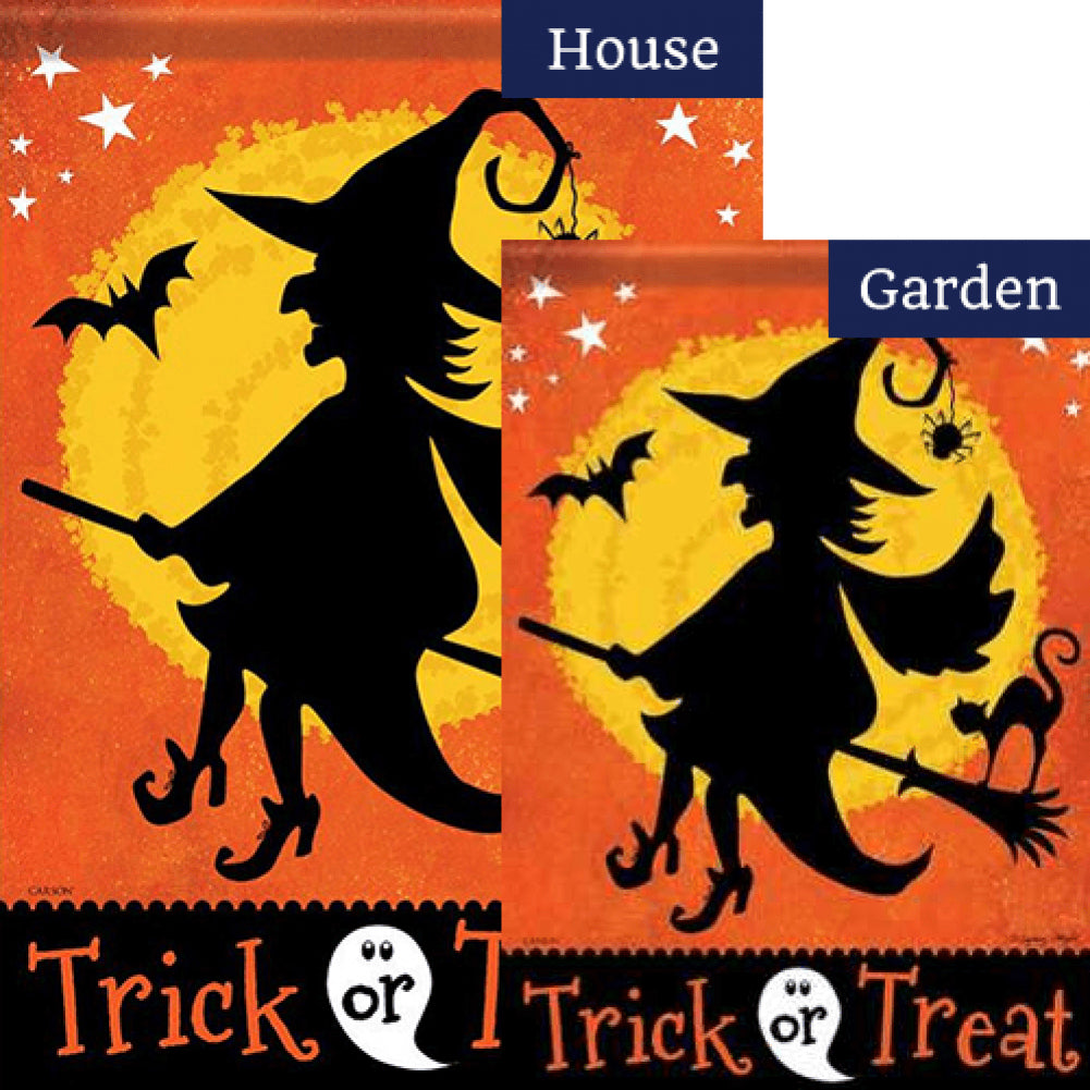 Witchy Night Double Sided Flags Set (2 Pieces)