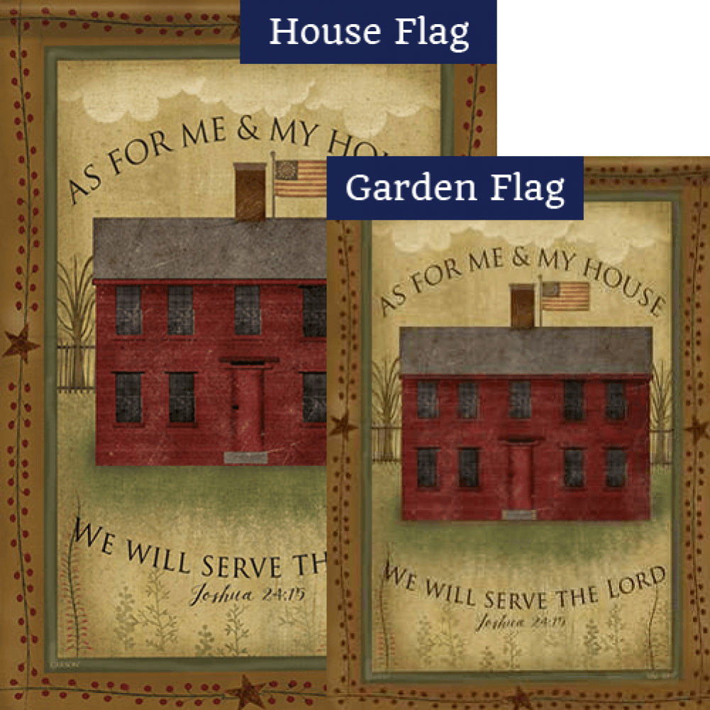 Me And My House Double Sided Flags Set (2 Pieces)