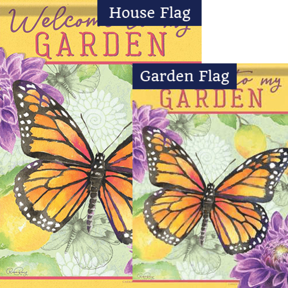 Garden Butterfly Double Sided Flags Set (2 Pieces)