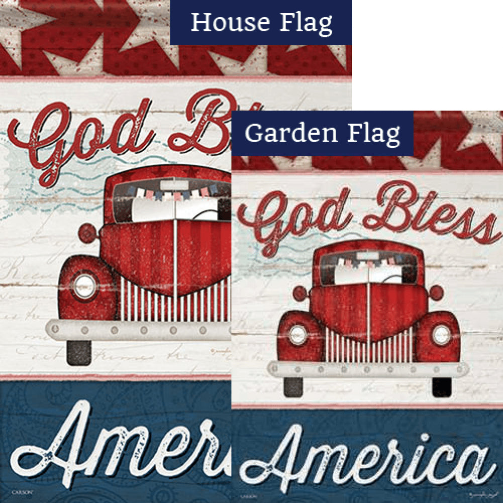 Vintage America Double Sided Flags Set (2 Pieces)