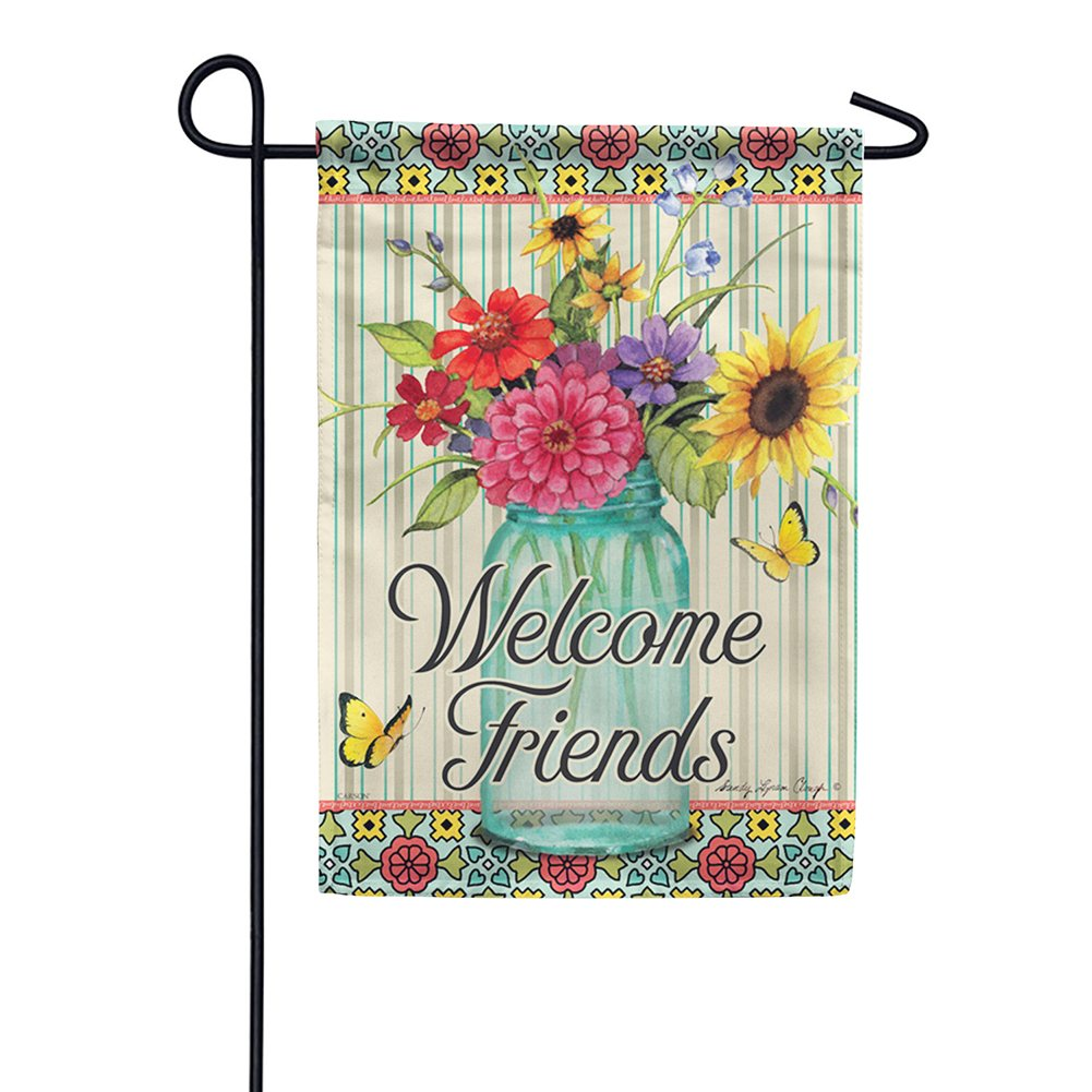 Floral Centerpiece Double Sided Garden Flag