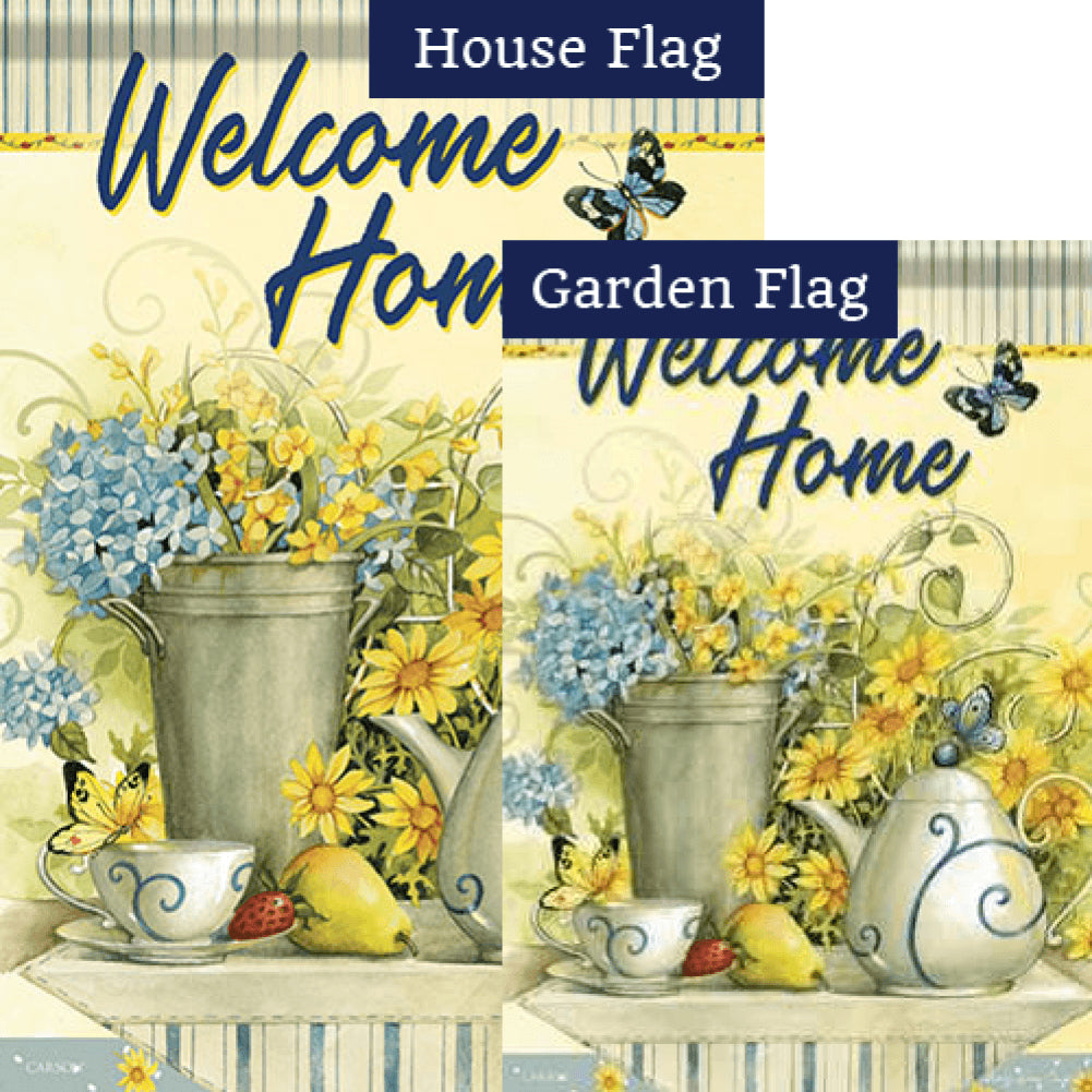Tea Time Double Sided Flags Set (2 Pieces)