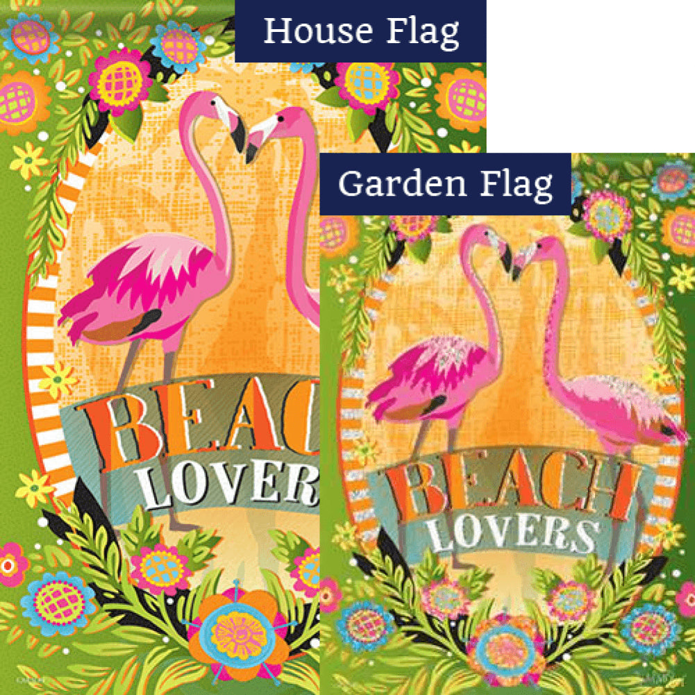 Beach Lovers Glitter Trends Double Sided Flags Set (2 Pieces)