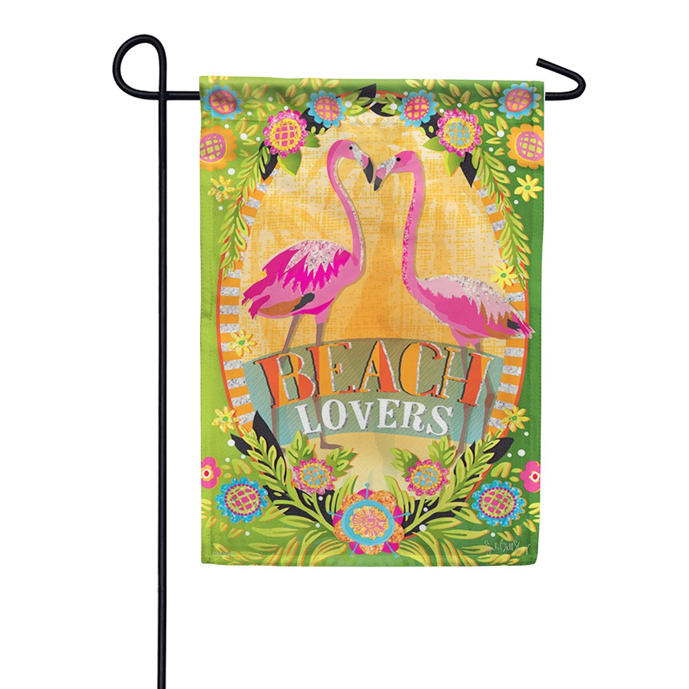 Beach Lovers Glitter Trends Double Sided Garden Flag