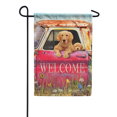 Quality Time Double Sided Garden Flag