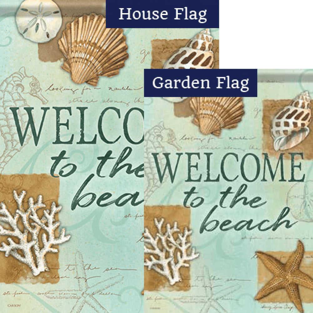 Beach Shells Double Sided Flags Set (2 Pieces)