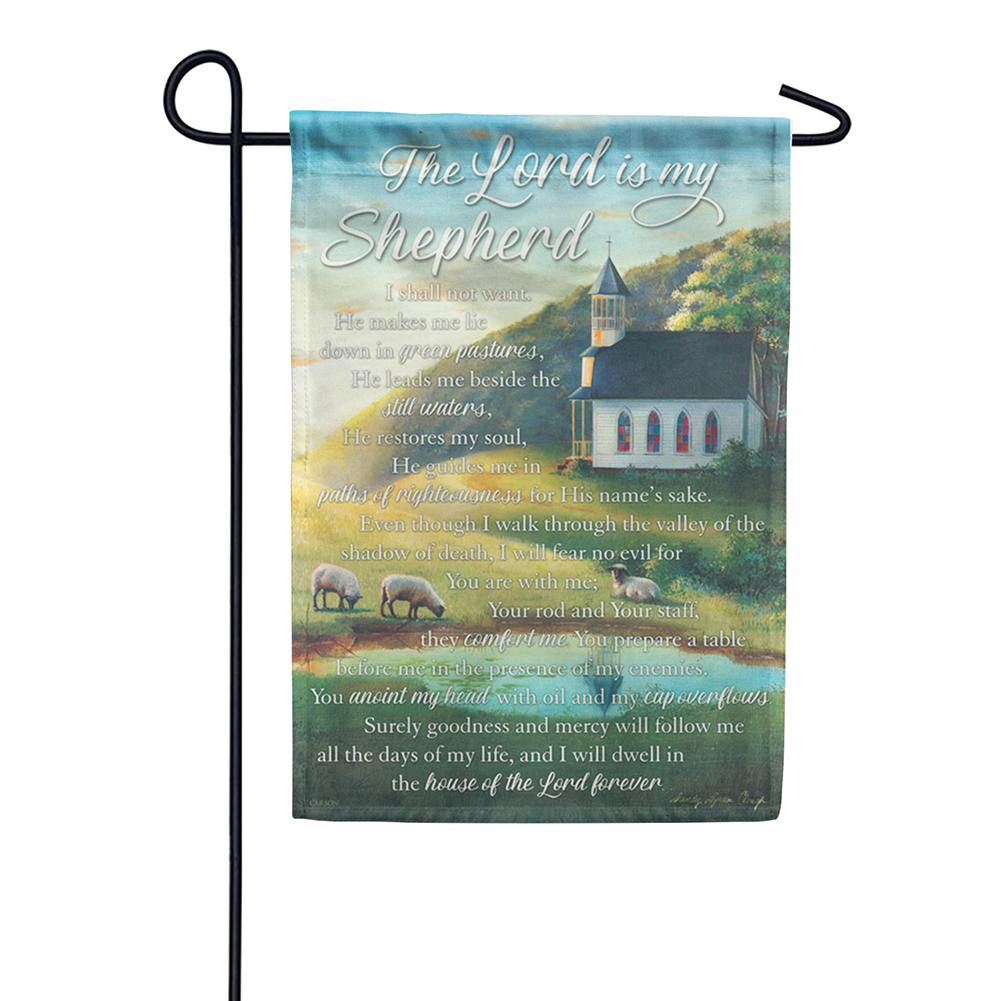 Lord Is My Shepherd Dura Soft Double Sided Garden Flag