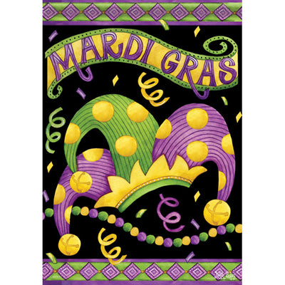 Mardi Gras Crown Double Sided Garden Flag