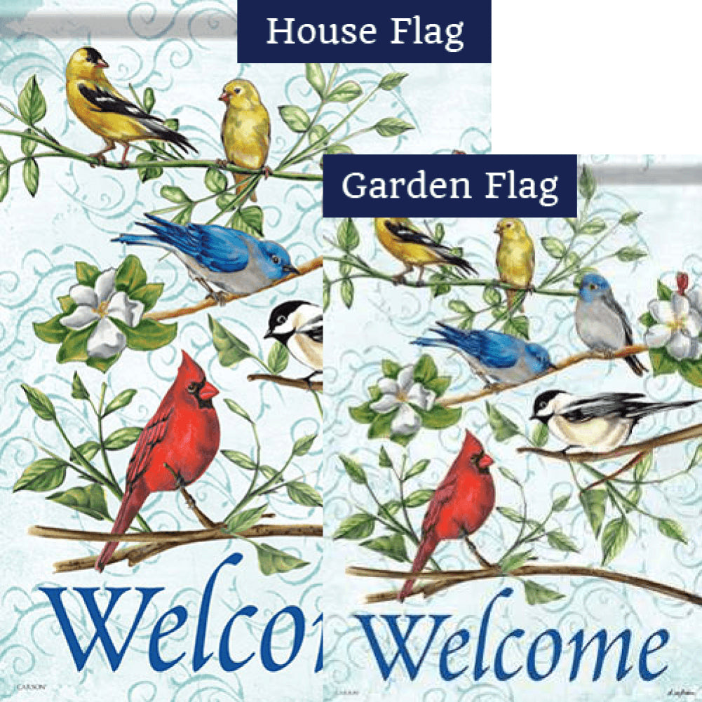 Songbird Greetings Double Sided Flags Set (2 Pieces)