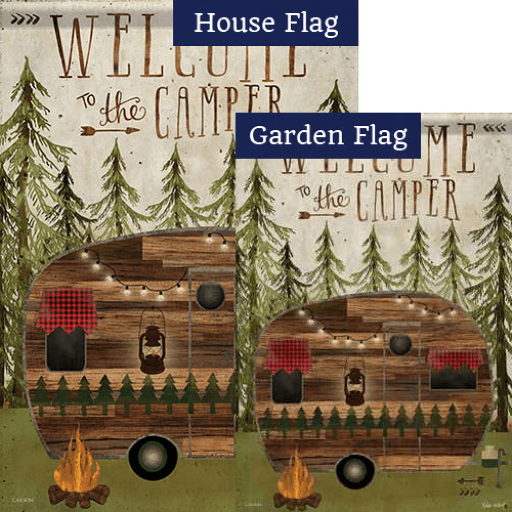 Welcome To The Camper Double Sided Flags Set (2 Pieces)