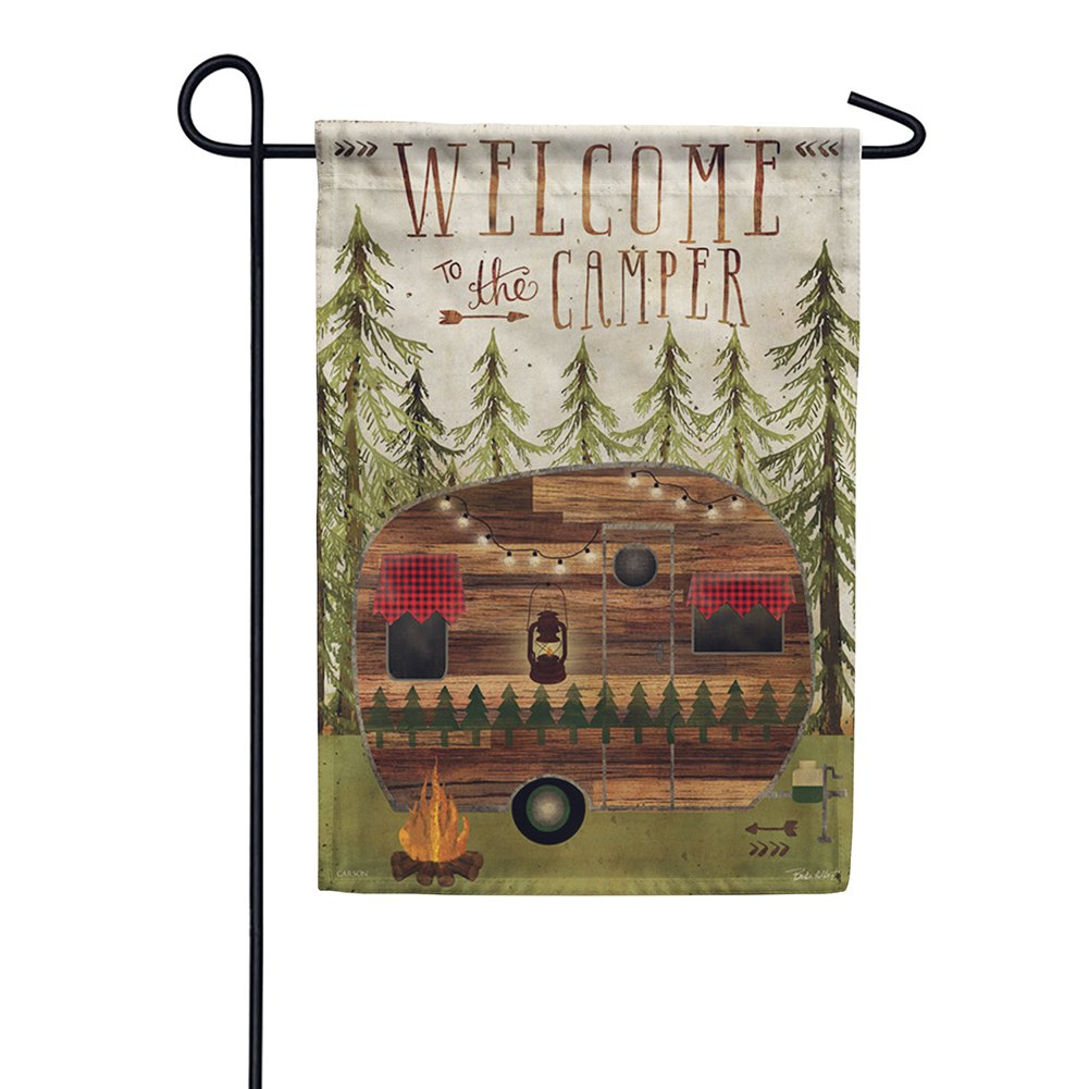 Welcome To The Camper Double Sided Garden Flag