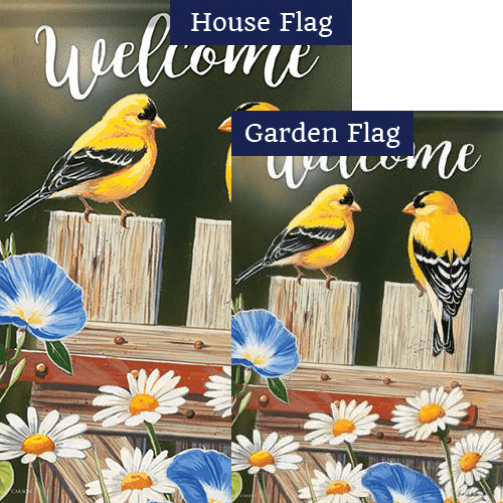 Bluebell Goldfinches Double Sided Flags Set (2 Pieces)