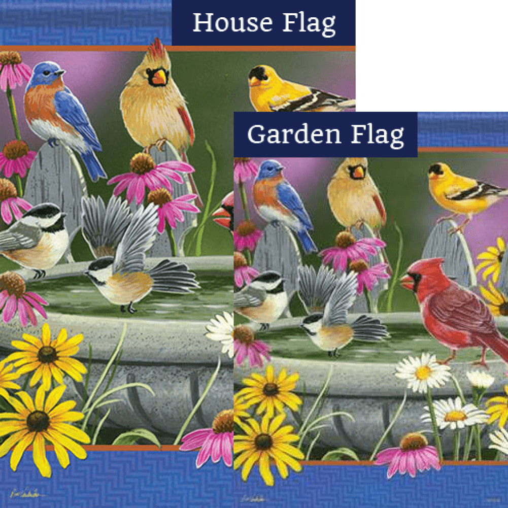 Birdbath Meeting Double Sided Flags Set (2 Pieces)