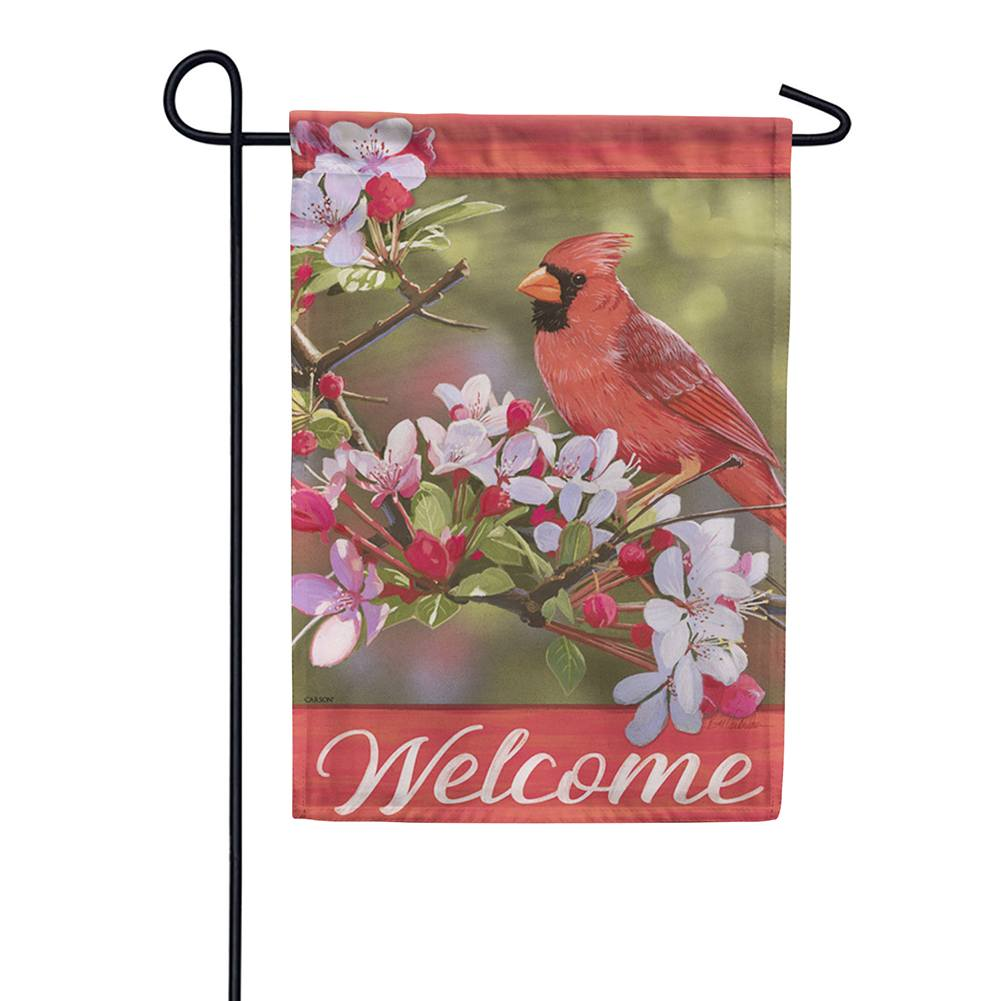 Pretty Cardinal Double Sided Garden Flag