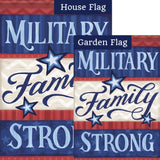 Military Family Double Sided Flags Set (2 Pieces)