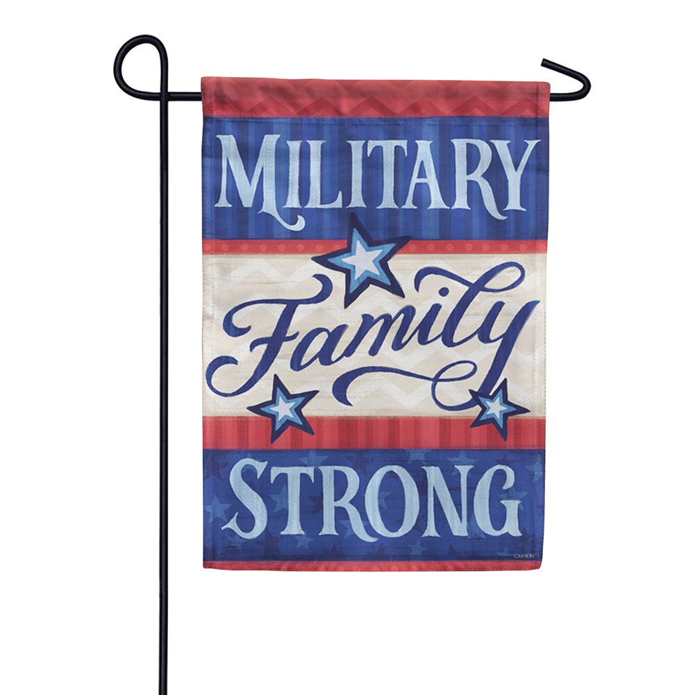 Military Family Double Sided Garden Flag