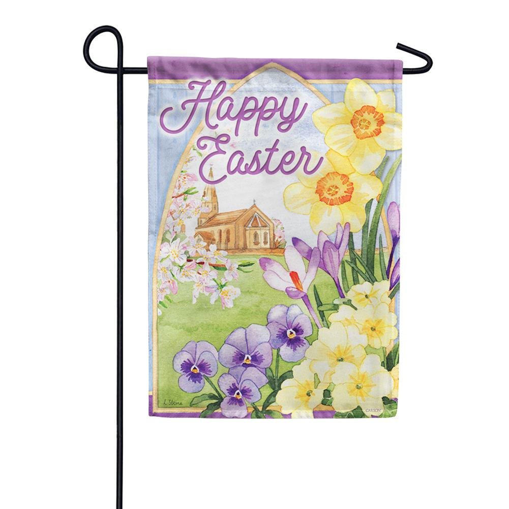 Easter Morning Dura Soft Double Sided Garden Flag