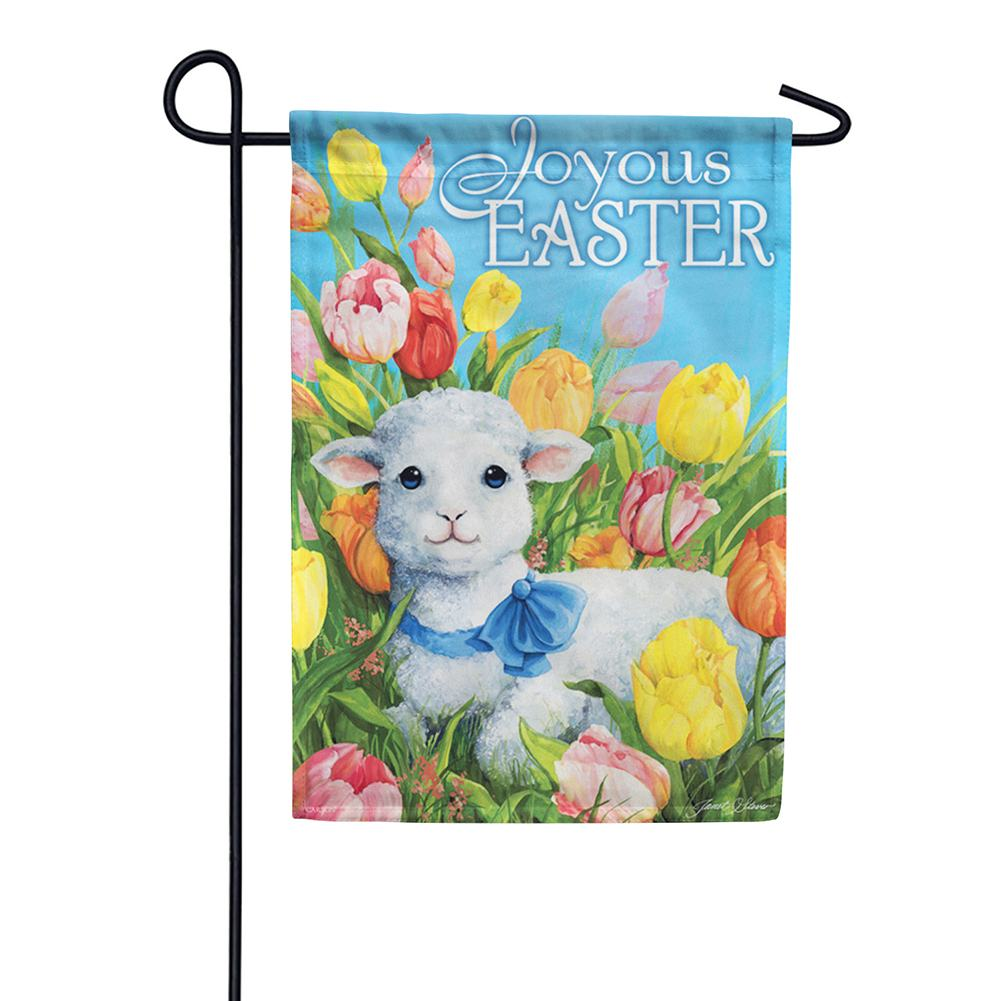 Easter Lamb Dura Soft Double Sided Garden Flag