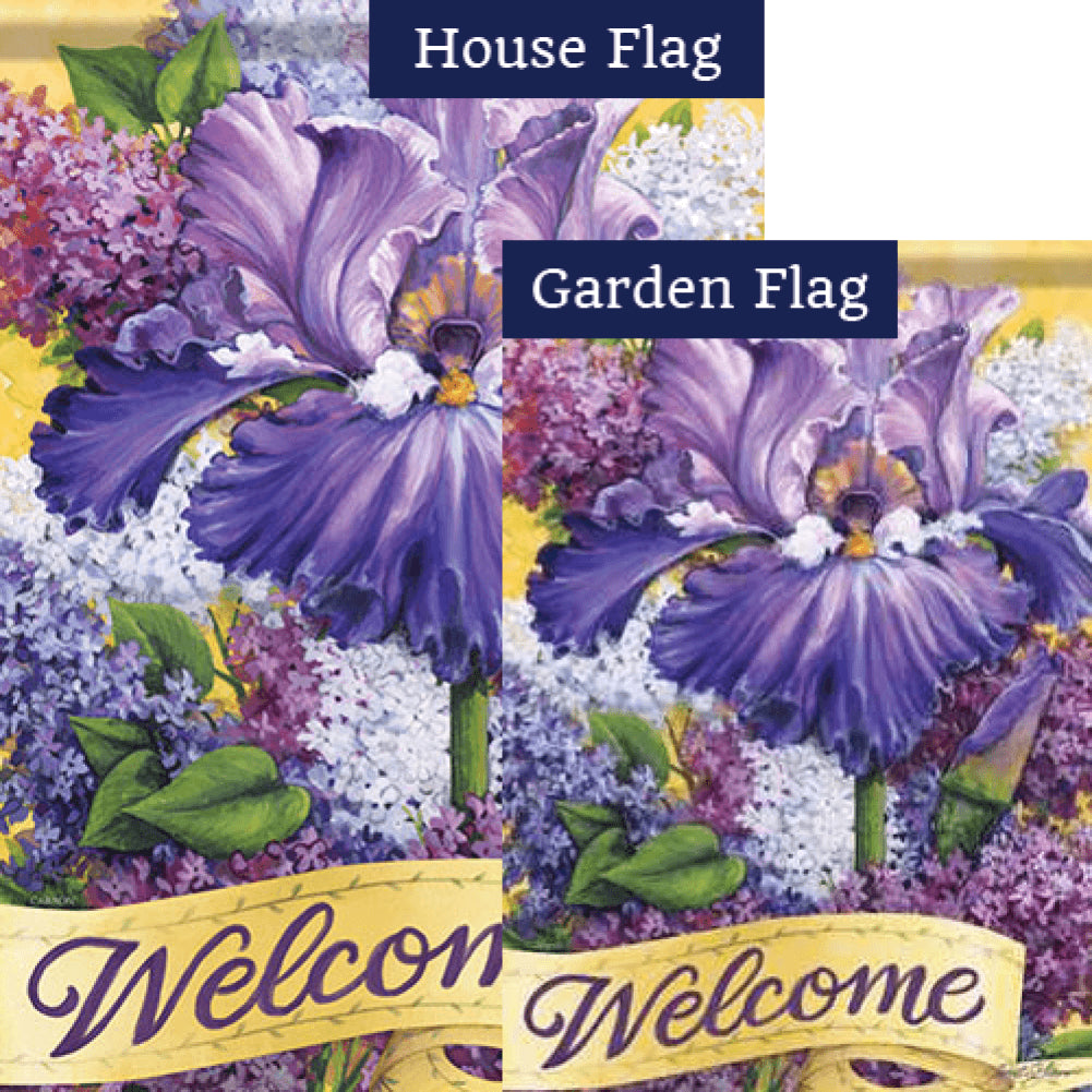 Lilac Blossoms Double Sided Flags Set (2 Pieces)