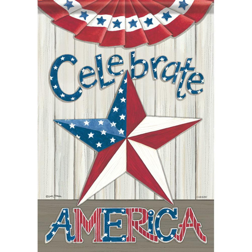 Celebrate America Star Double Sided Garden Flag
