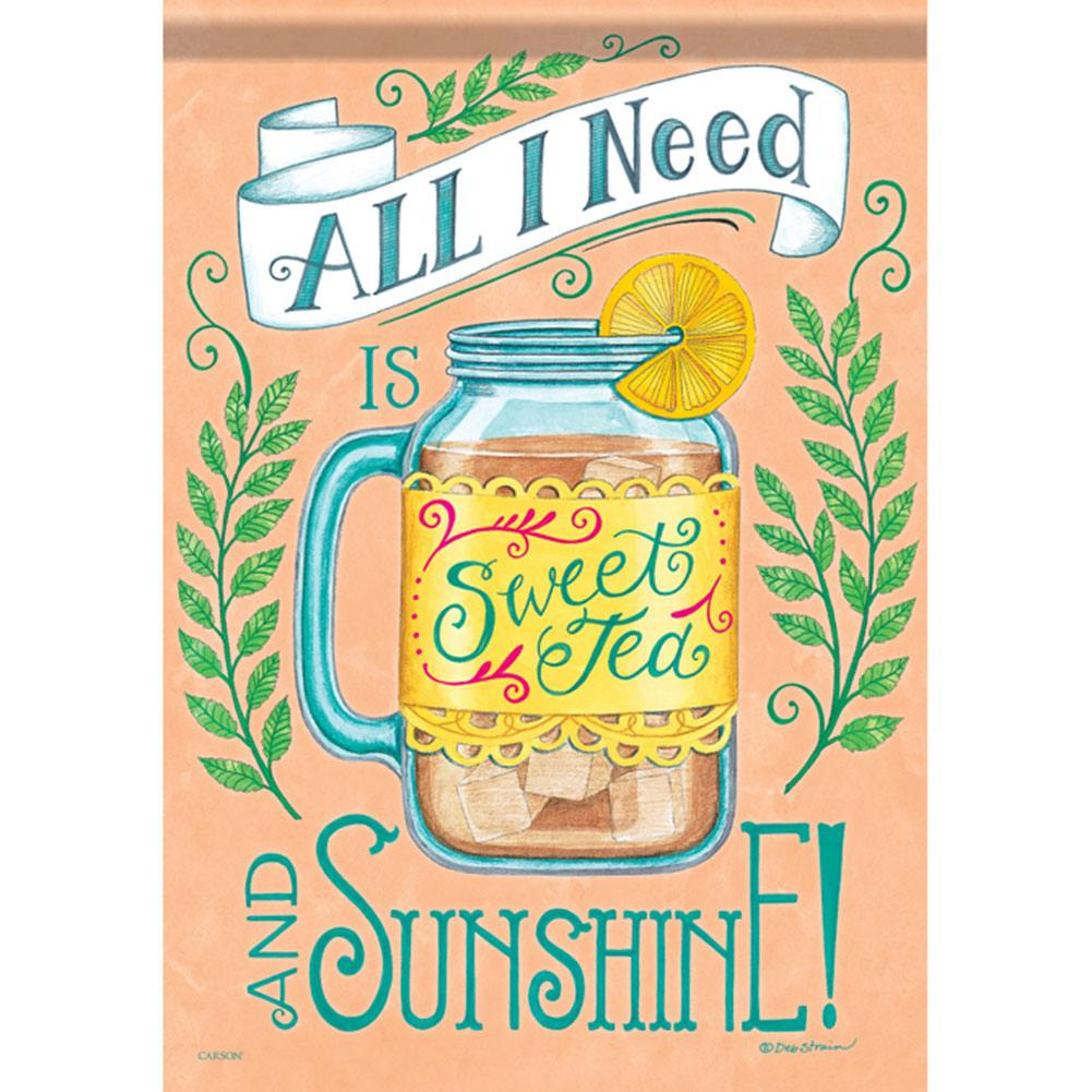 Sweet Tea & Sunshine Dura Soft Double Sided Garden Flag