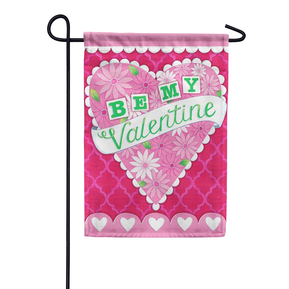 Heart And Flowers Dura Soft Double Sided Garden Flag