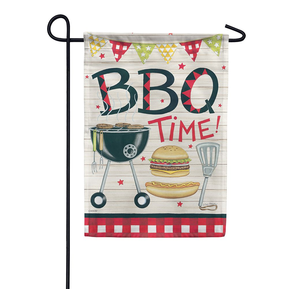 Bbq Time Dura Soft Double Sided Garden Flag