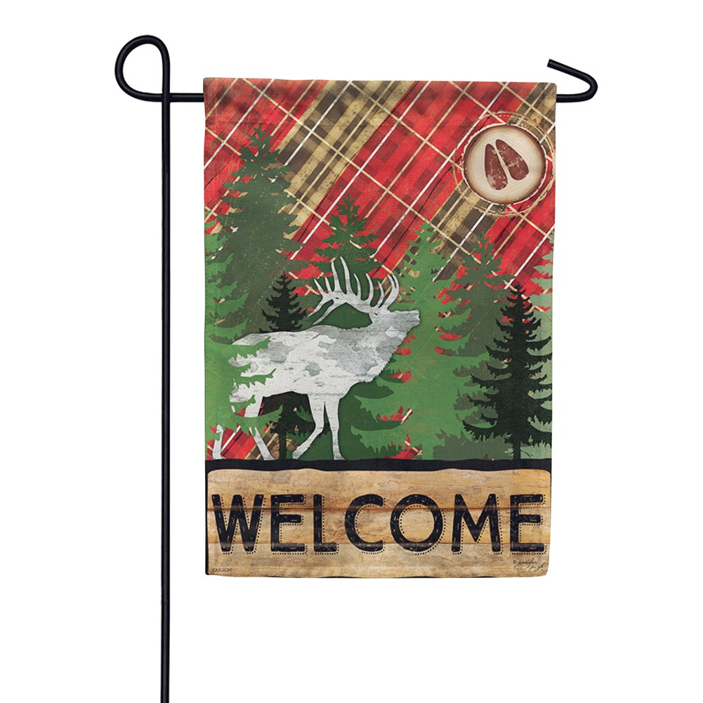 Wilderness Welcome Dura Soft Double Sided Garden Flag