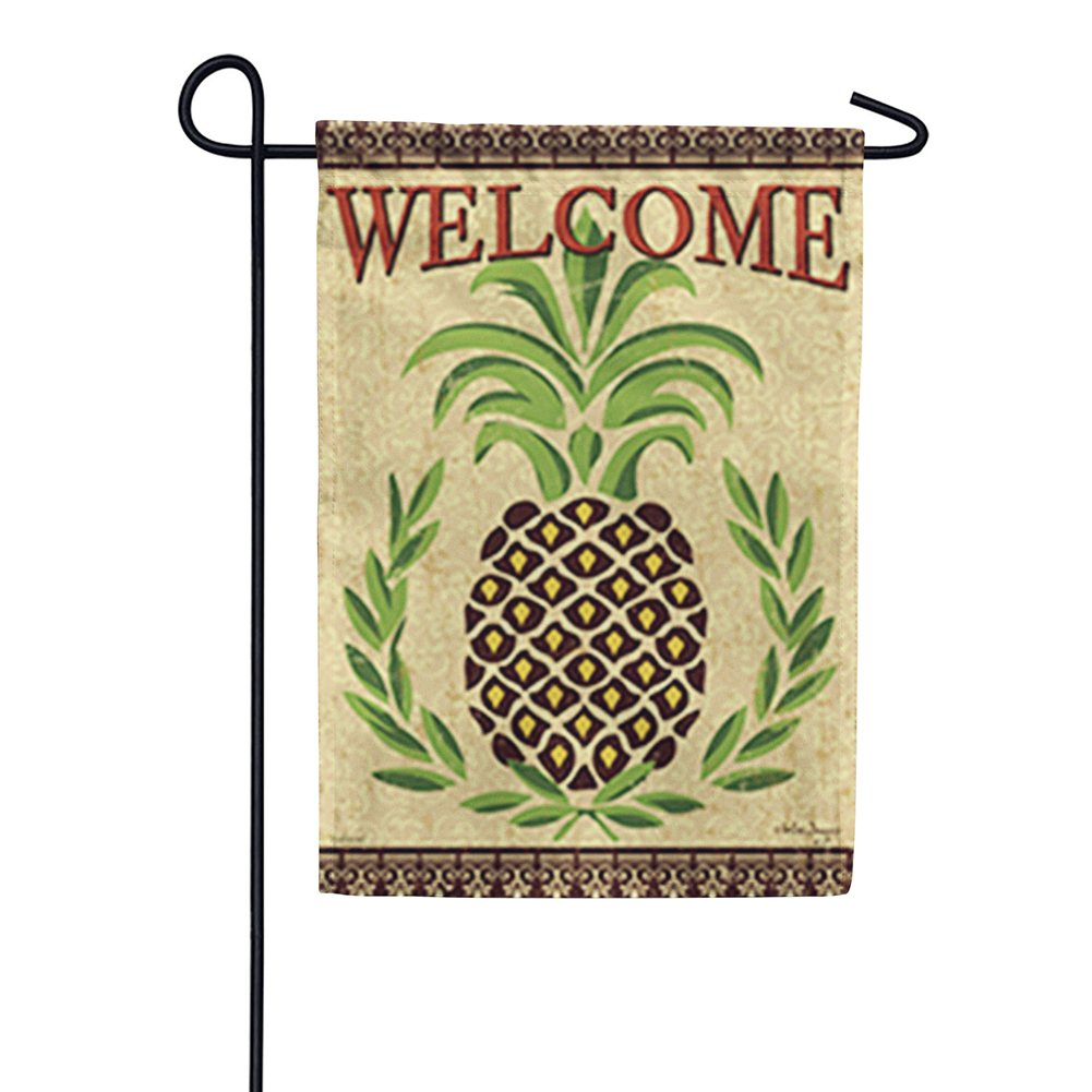 Primitive Pineapple Double Sided Garden Flag