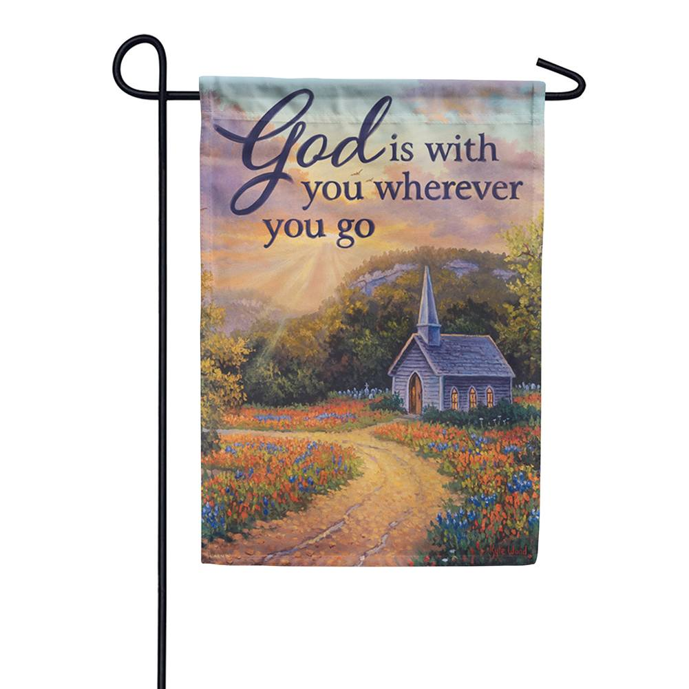 God Is With You Dura Soft Double Sided Garden Flag