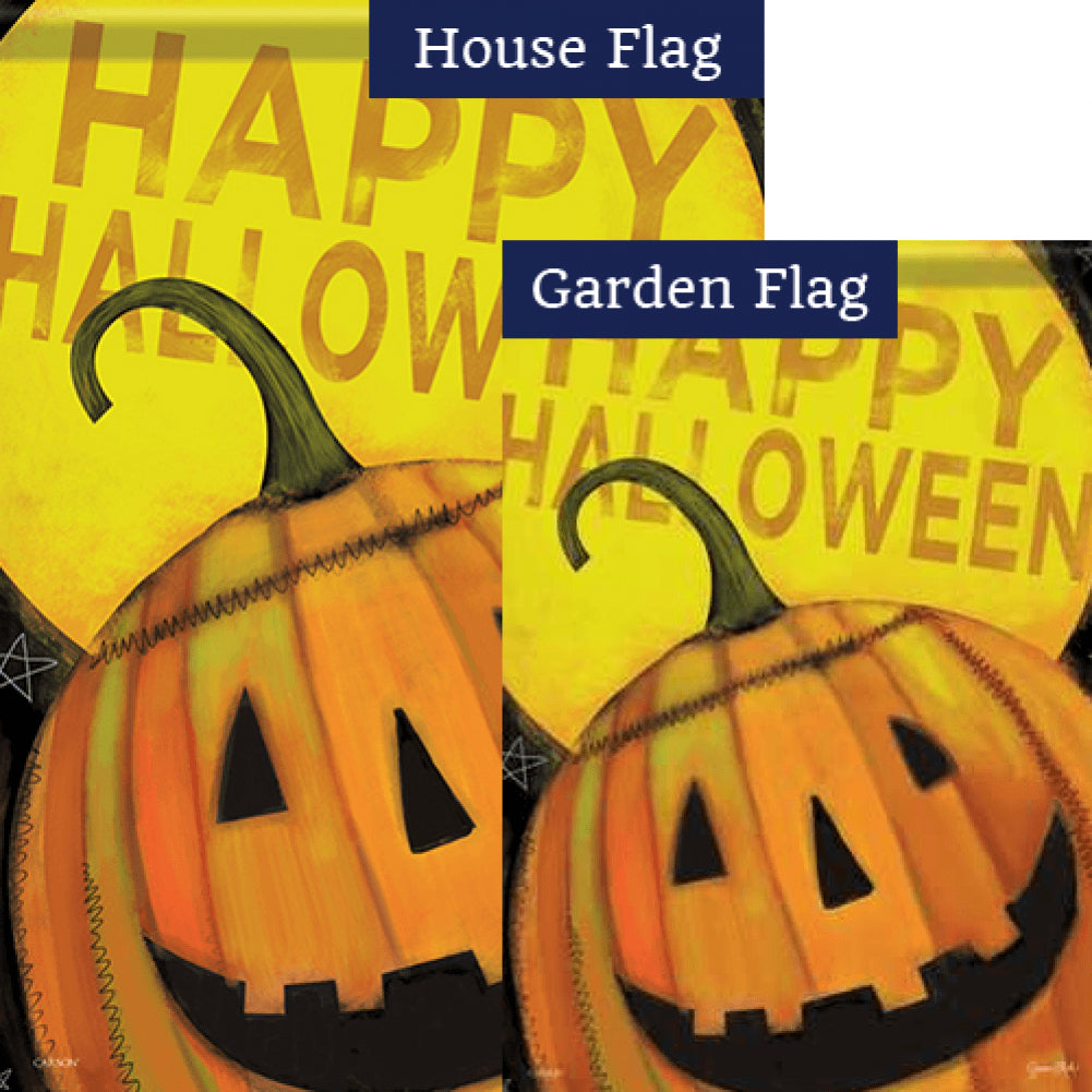 Happy Jack Halloween Glitter Trends Flags Set (2 Pieces)