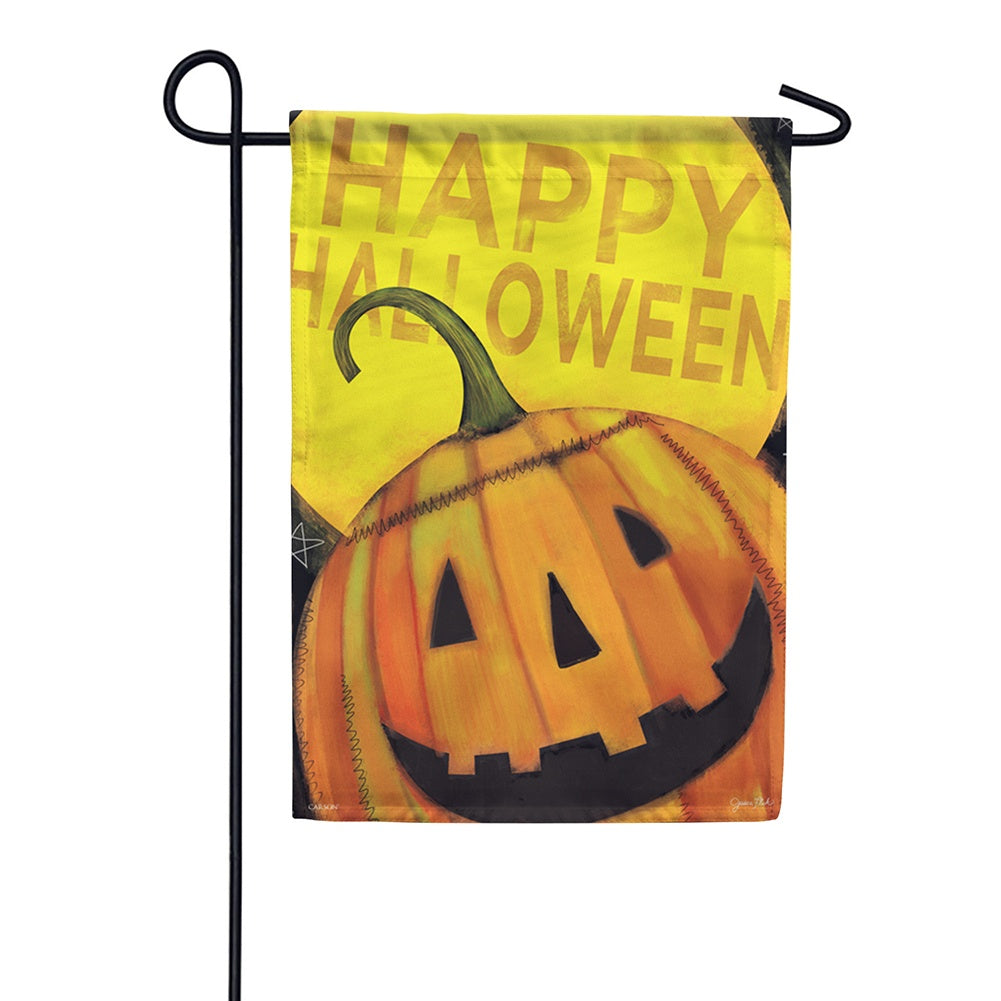 Happy Jack Halloween Glitter Trends Garden Flag