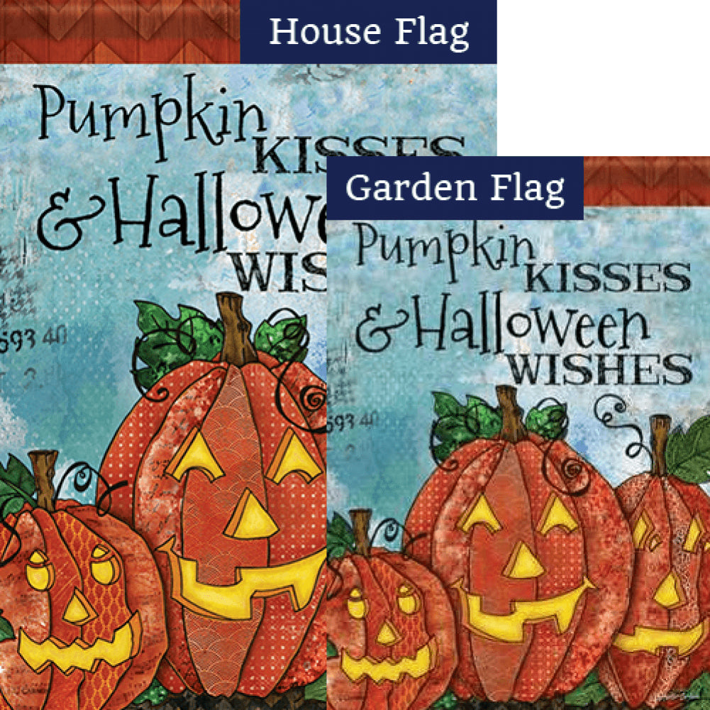 Pumpkin Kisses Flags Set (2 Pieces)