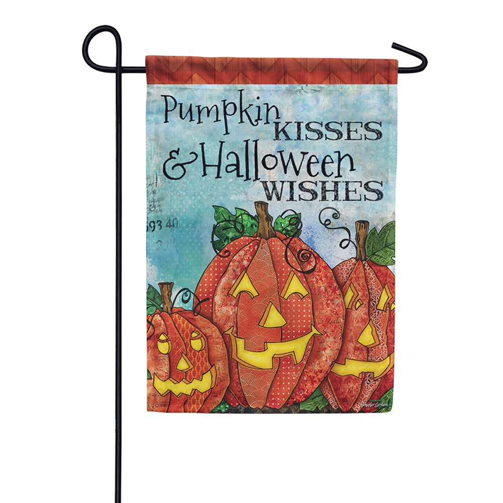 Pumpkin Kisses Garden Flag