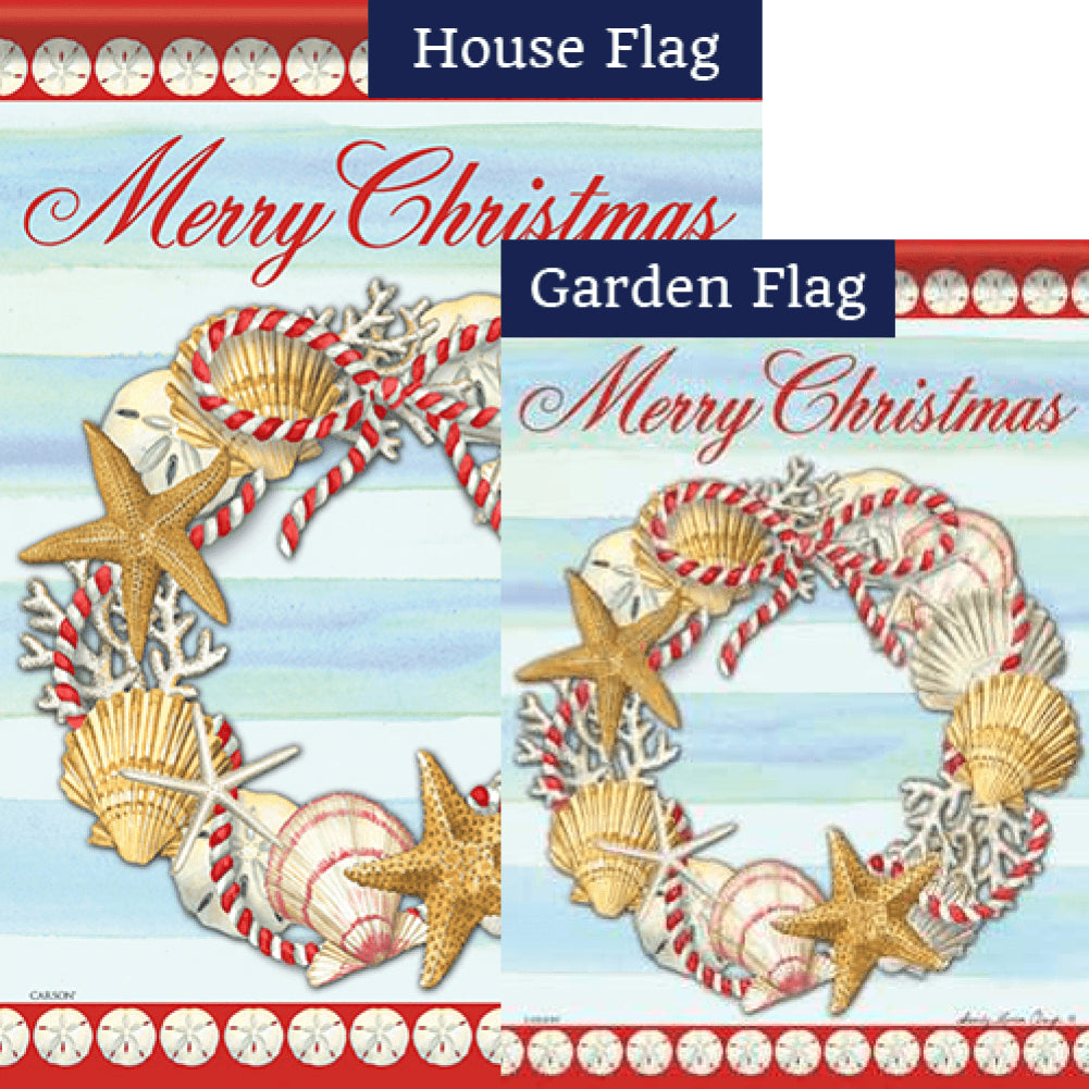 Christmas At The Shore Flags Set (2 Pieces)