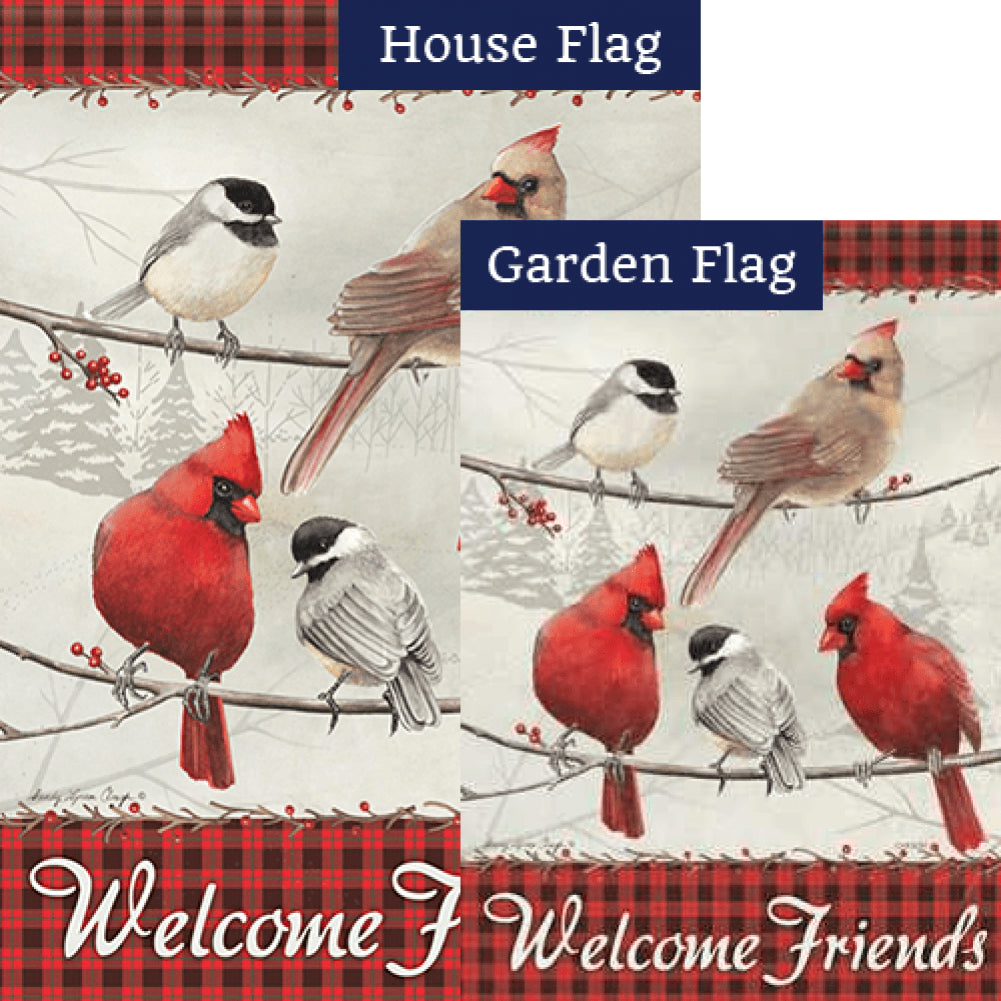 Friends Welcome Flags Set (2 Pieces)
